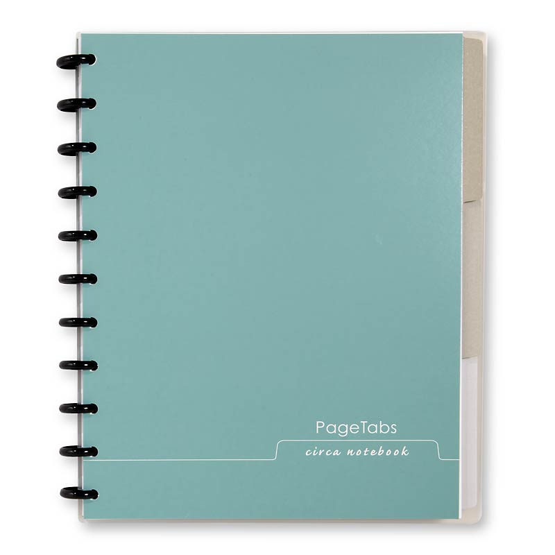 Circa Page Tabs Notebook, Letter