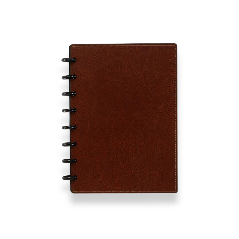 Circa Smooth Sliver Notebook with Pockets, Cocoa, Junior