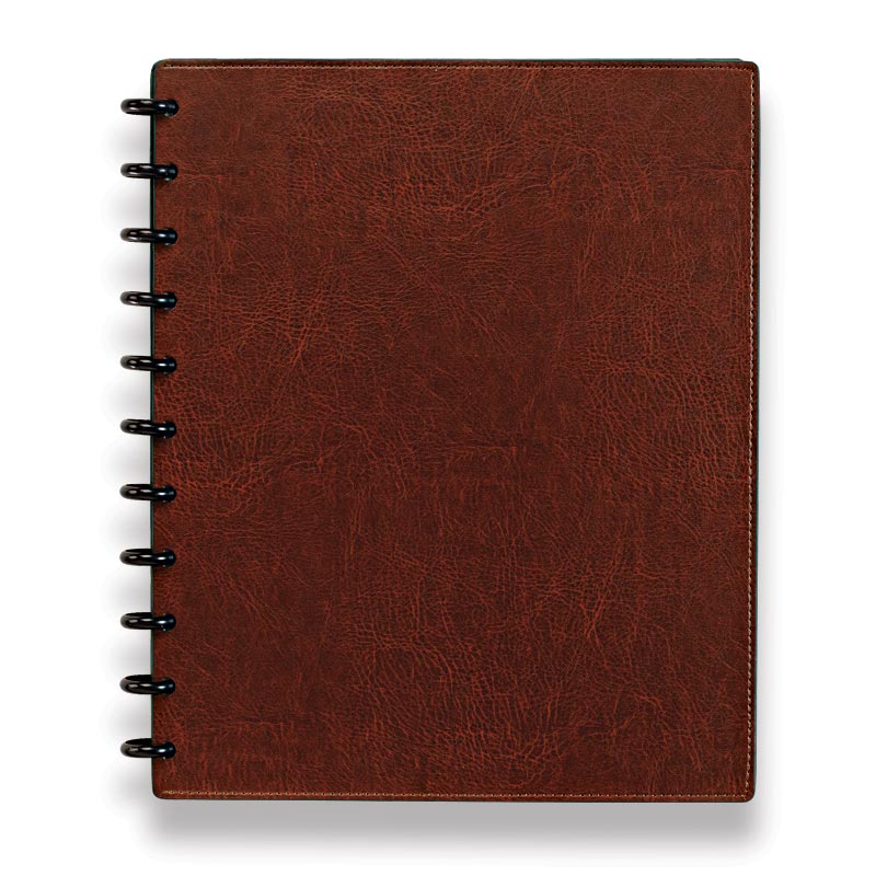 Circa Smooth Sliver Notebook with Pockets, Cocoa, Letter