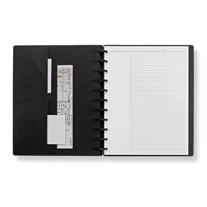 Circa Smooth Sliver Notebook with Pockets,Royal Blue, Letter