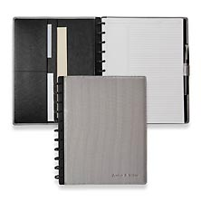 Circa Impressions Foldover Notebook, Silver, Letter