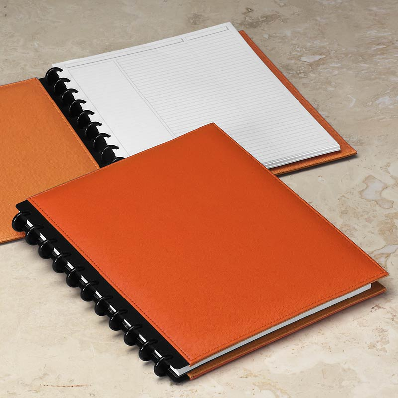 Circa Inside Out Foldover Notebook, Orange