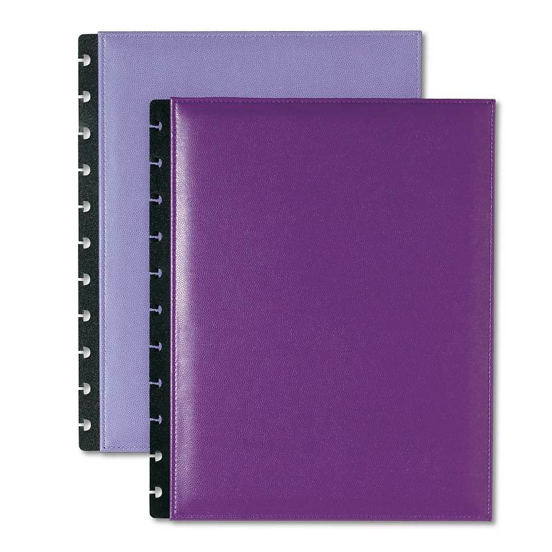 Circa Inside Out Foldover Notebook, Purple, Letter
