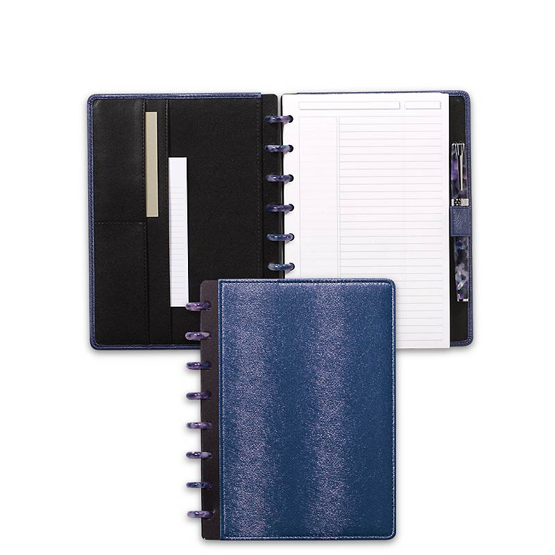Circa LevTex™ Textured Foldover Notebook, Junior, Ocean