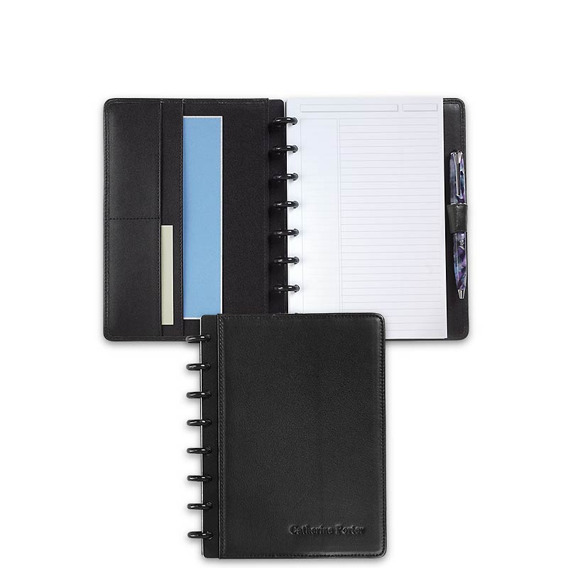 Circa Carezza Foldover Notebook, Black, Junior