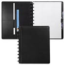 Circa Carezza Foldover Notebook, Black, Letter