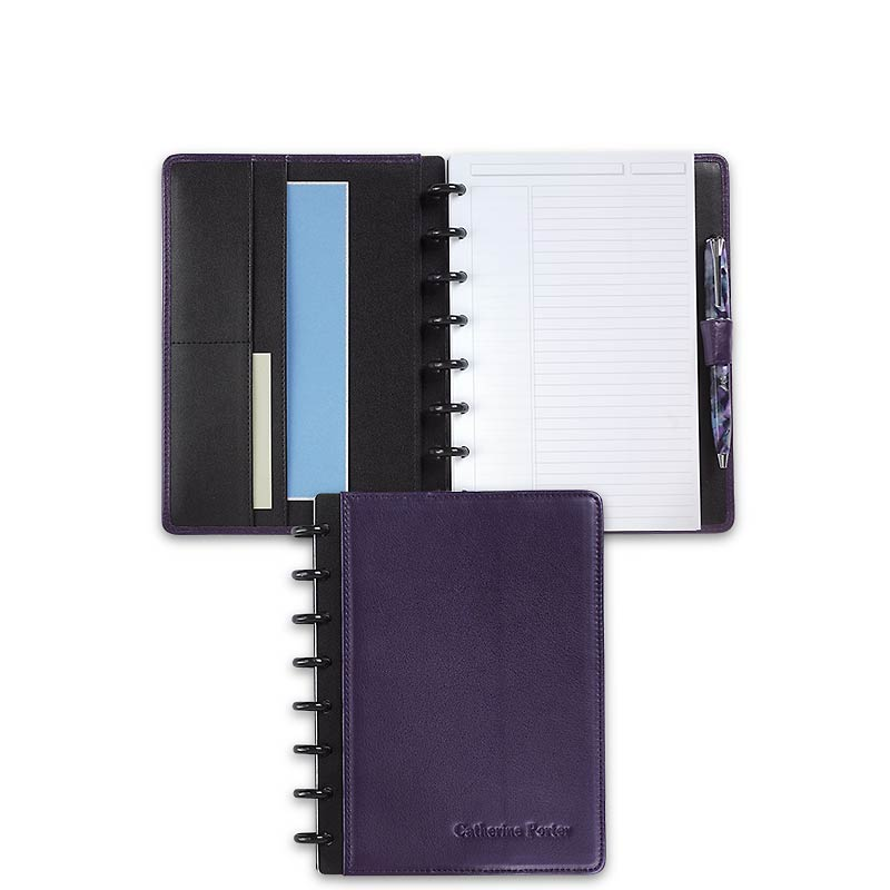 Circa Carezza Foldover Notebook, Eggplant, Junior