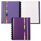 Circa Inside Out Foldover Notebook with Bands, Purple