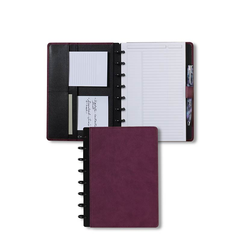 Circa Pebbled LevTex™ Foldover Notebook, Purple