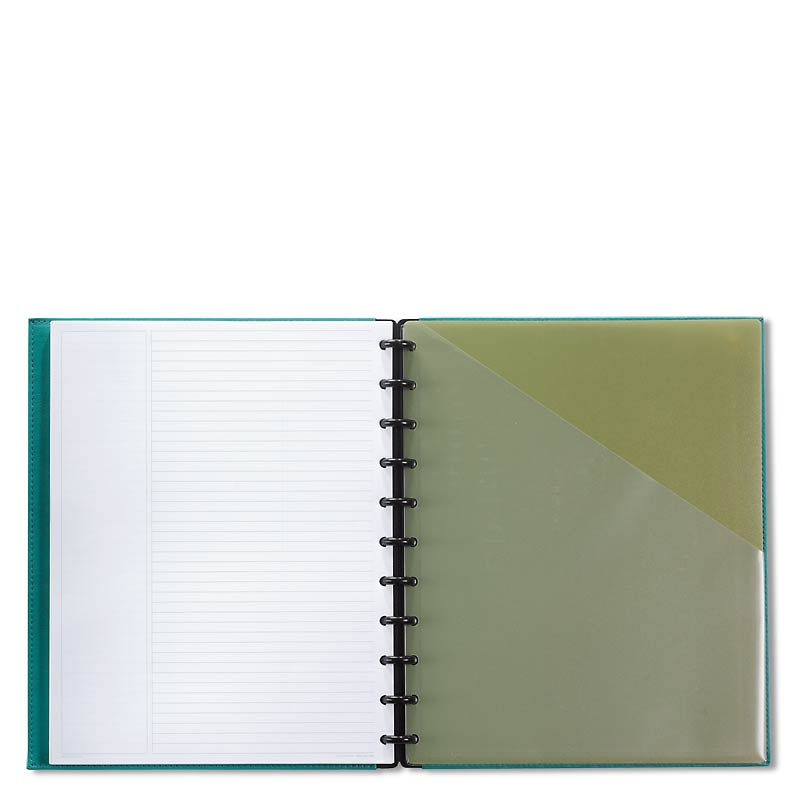 Circa Shades Foldover Notebook, Aquatic