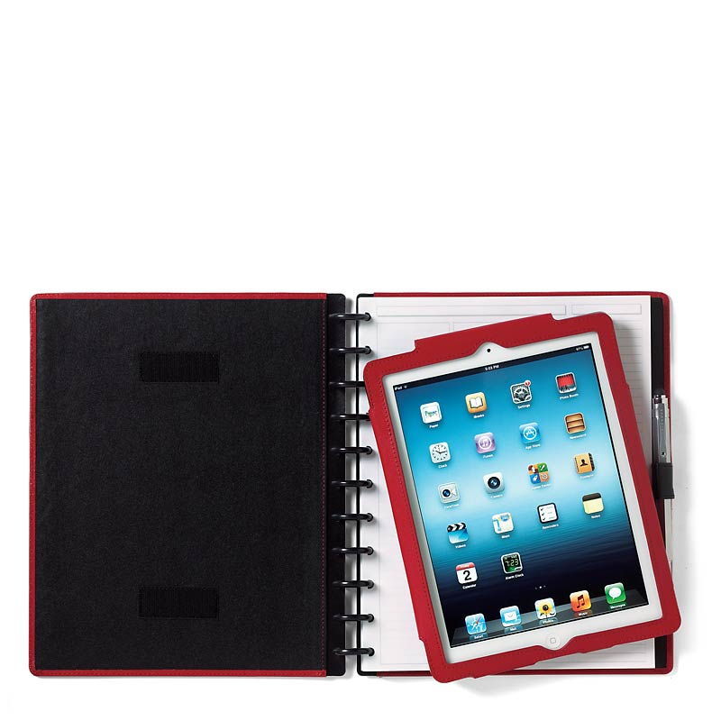 Circa iPad Foldover Notebook, Red