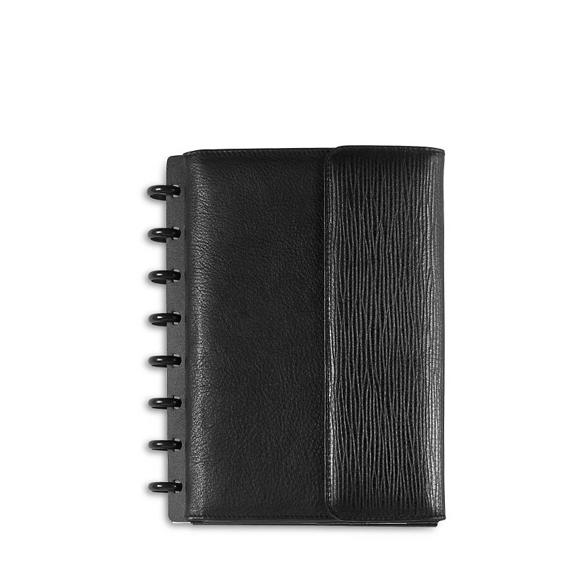 Circa Leather Tech Pocket Foldover Notebook Jnr-Bk