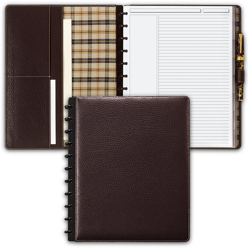 Bomber Jacket Circa Leather Foldover Notebook, Letter