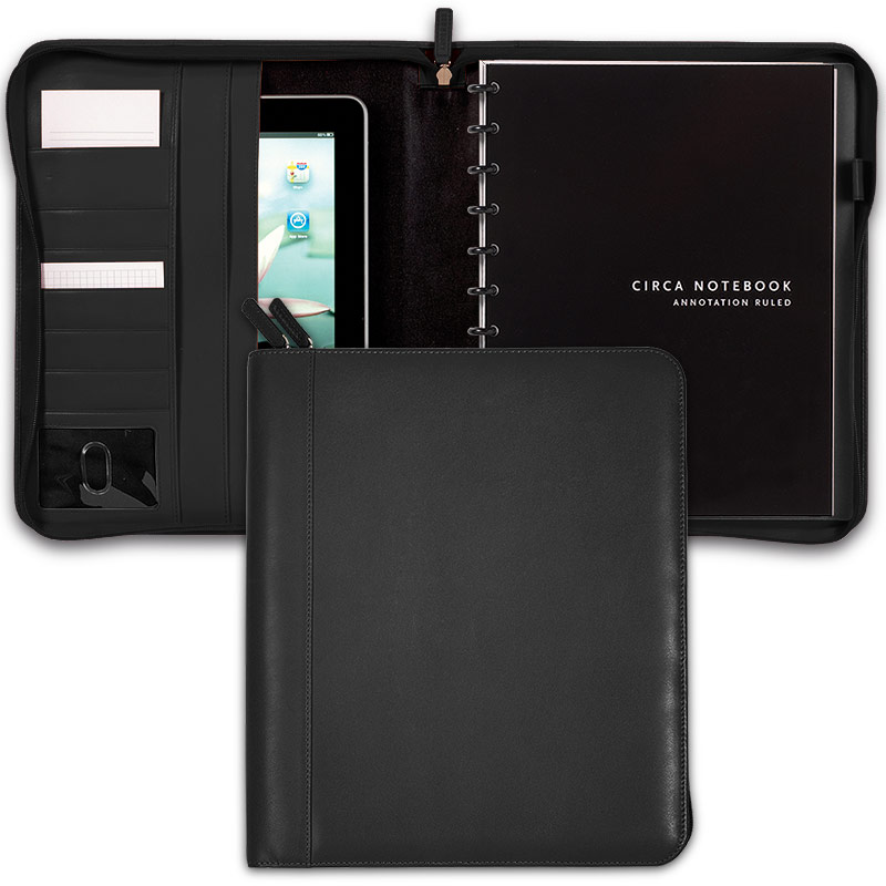 Circa Zip Folio, Black, Letter