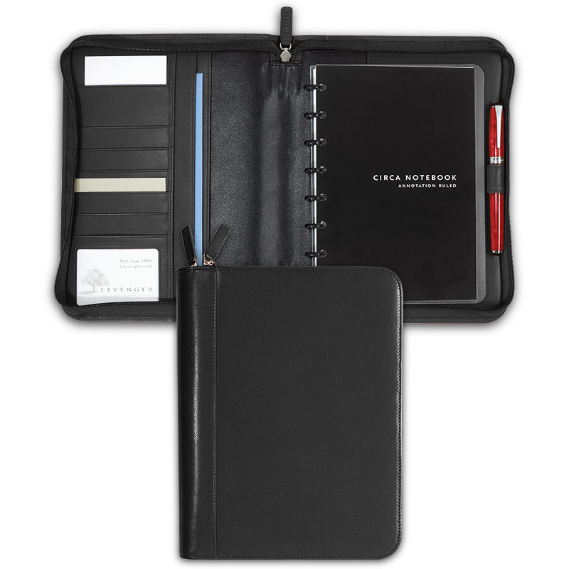 Circa Zip Folio, Black, Junior