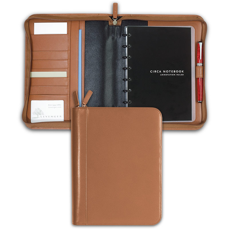 Circa Zip Folio, Saddle, Junior