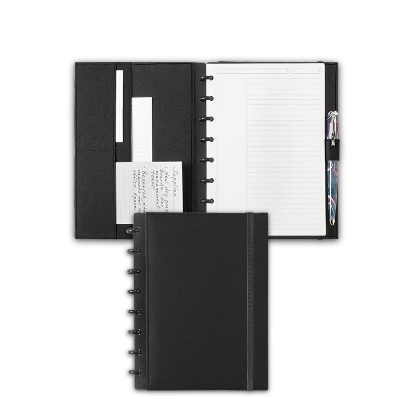Circa Bookcloth Notebook, Black, Junior
