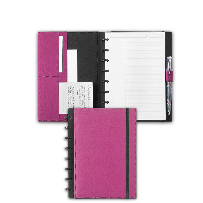 Circa Bookcloth Notebook, Orchid, Junior