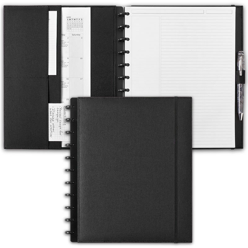 Circa Bookcloth Notebook, Black, Letter