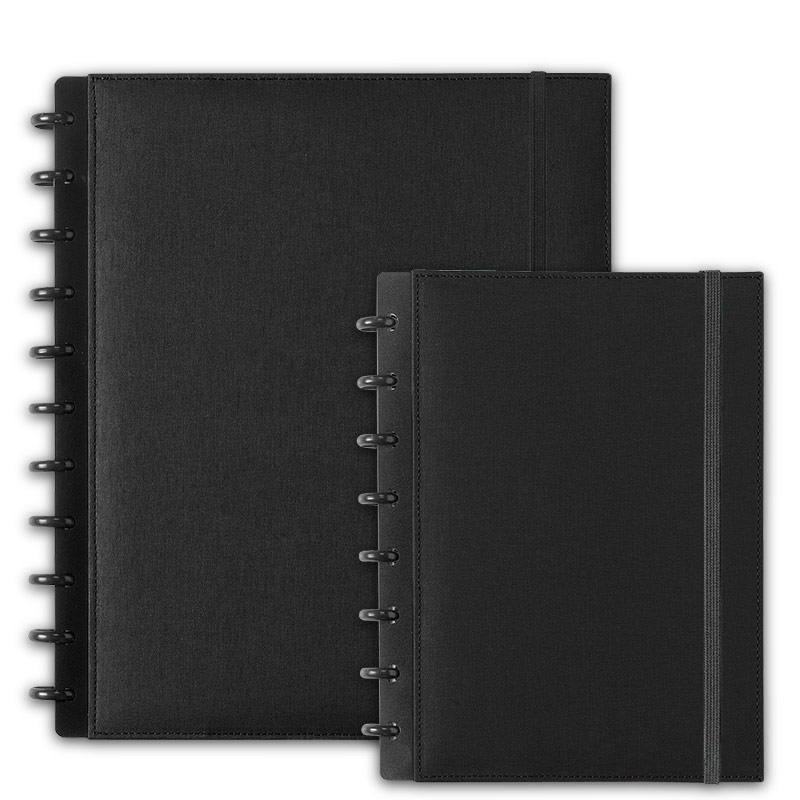 Circa Bookcloth Notebook, Black