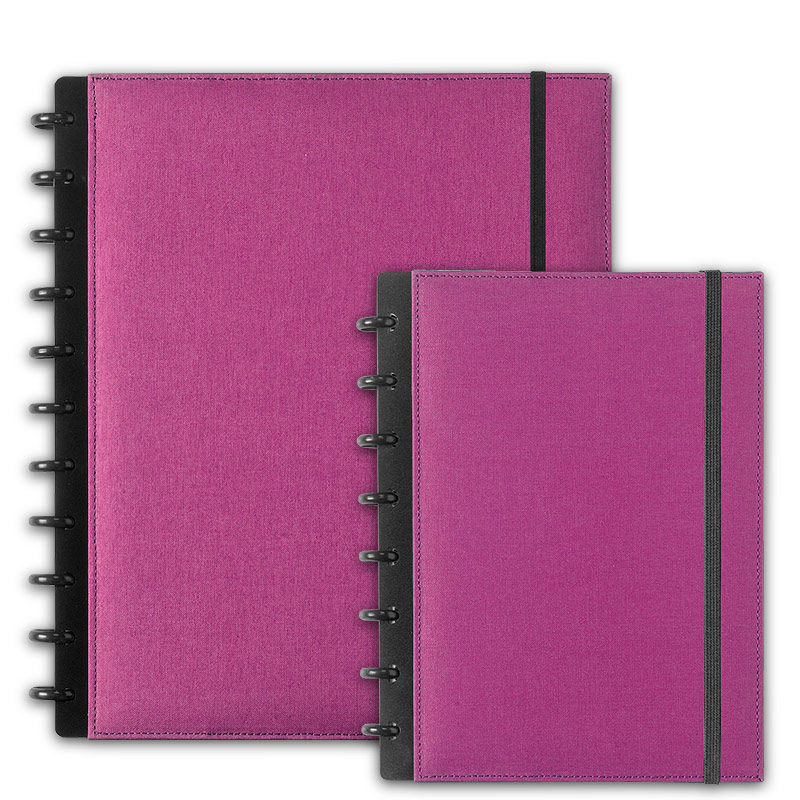 Circa Bookcloth Notebook, Orchid