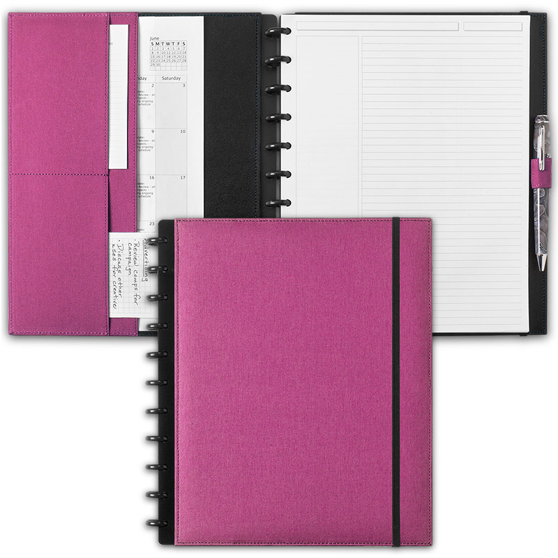 Circa Bookcloth Notebook, Orchid, Letter
