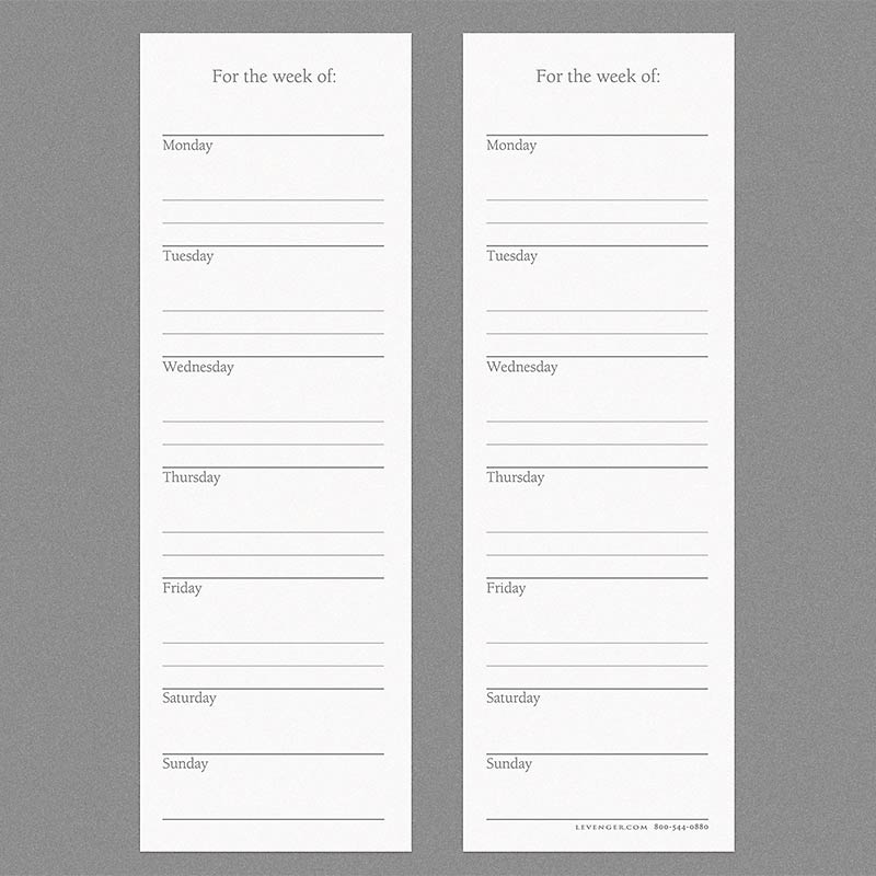 Special Request™ Scheduler Bookmark Cards (set of 100)