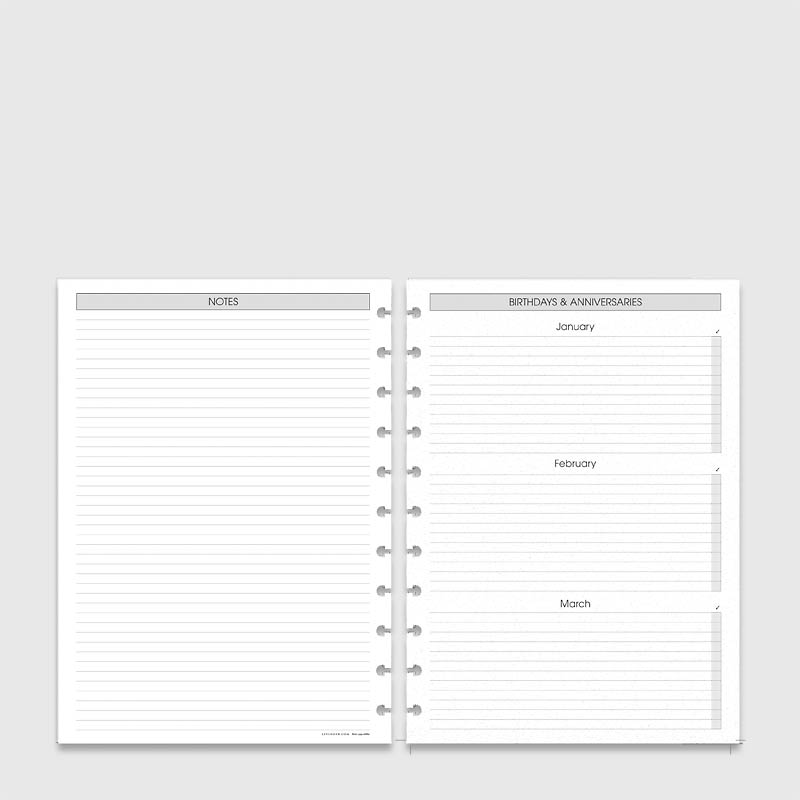 Circa 2 Year Monthly Agenda Refill, A4 2015-2016