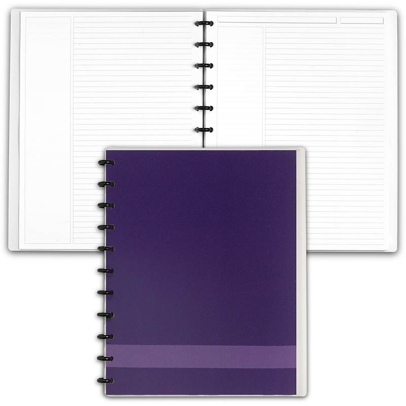Special Request™ Circa Personalized Notebook, Annotation Ruled, Grape, Lett