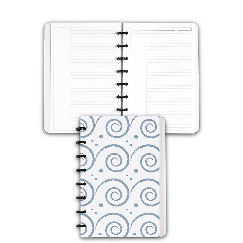 Special Request™ Circa Personalized Notebook, Annotation Ruled, Waves, Juni