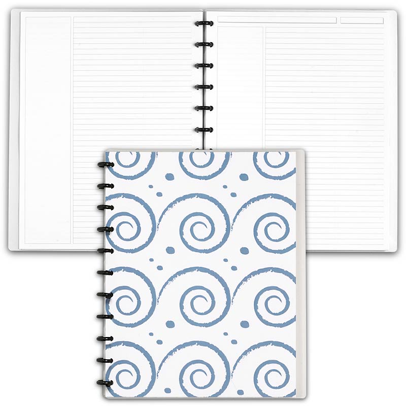 Special Request™ Circa Personalized Notebook, Annotation Ruled, Waves, Lett