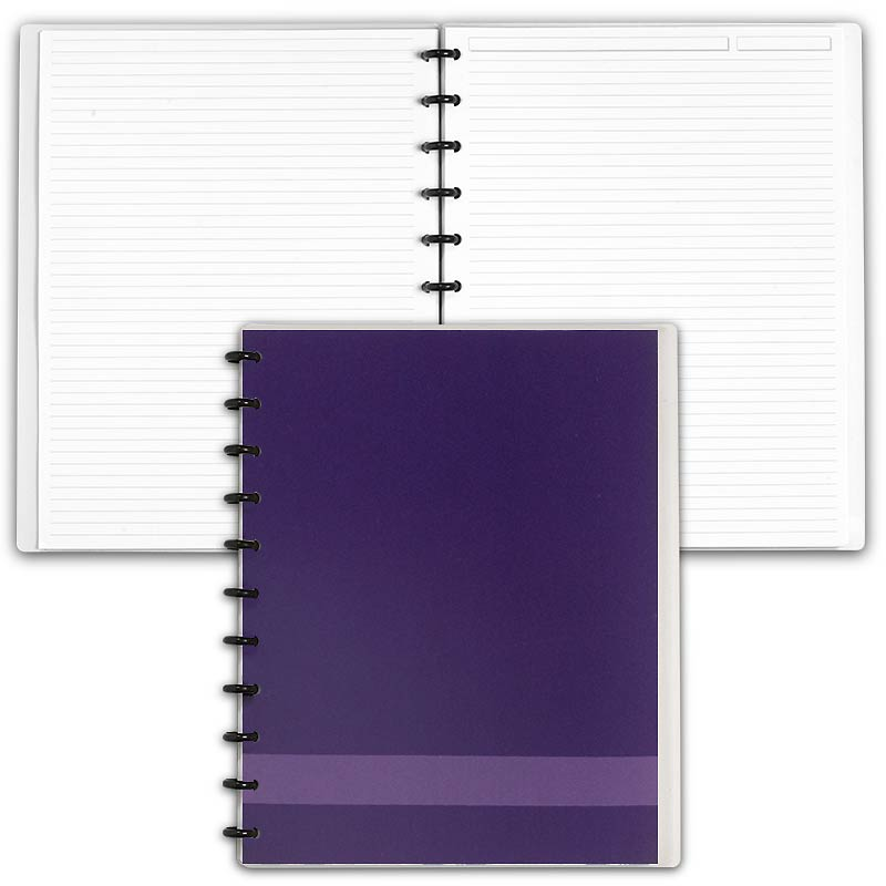 Special Request™ Circa Personalized Notebook, Full-Page Ruled, Grape, Lette