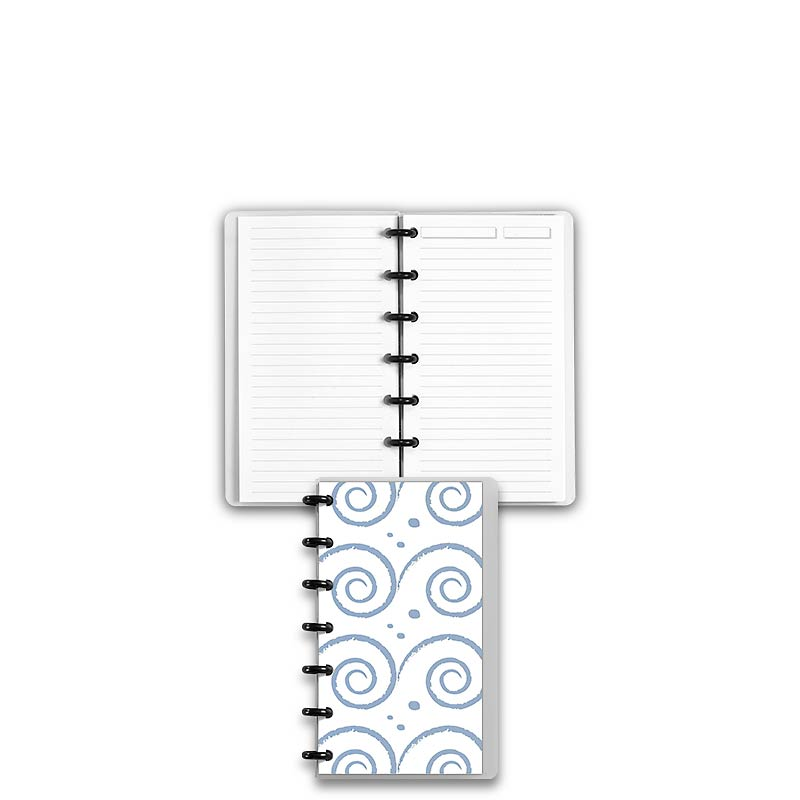 Special Request™ Circa Personalized Notebook, Full-Page Ruled, Waves, Compa