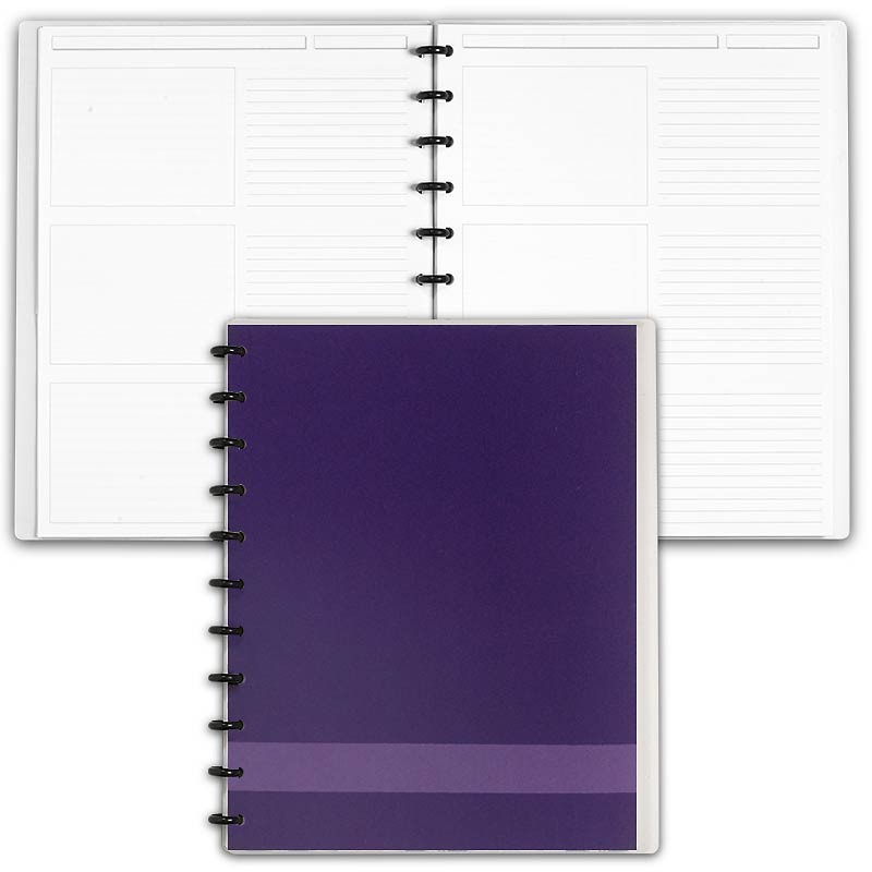 Special Request™ Circa Personalized Notebook, Storyboard, Grape, Letter