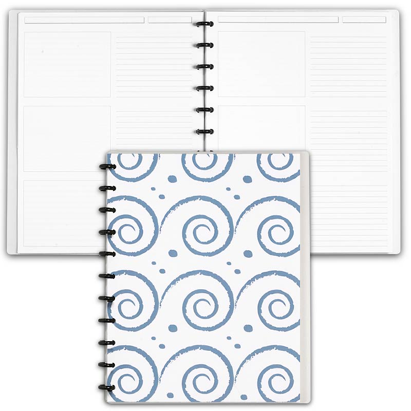 Special Request™ Circa Personalized Notebook, Storyboard, Waves, Letter