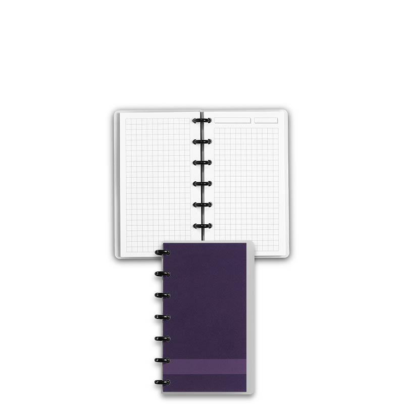 Special Request™ Circa Personalized Notebook, Full-Page Grid, Grape, Compac