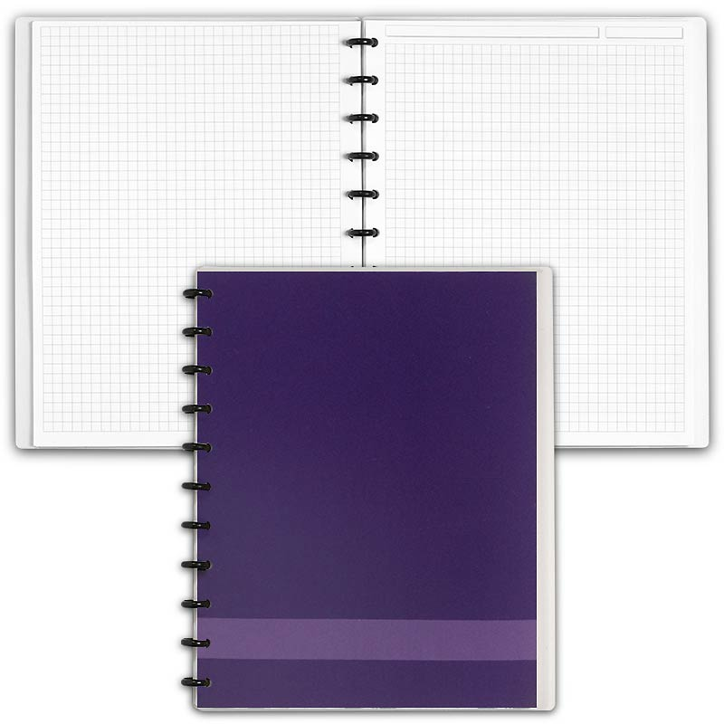 Special Request™ Circa Personalized Notebook, Full-Page Grid, Grape, Letter