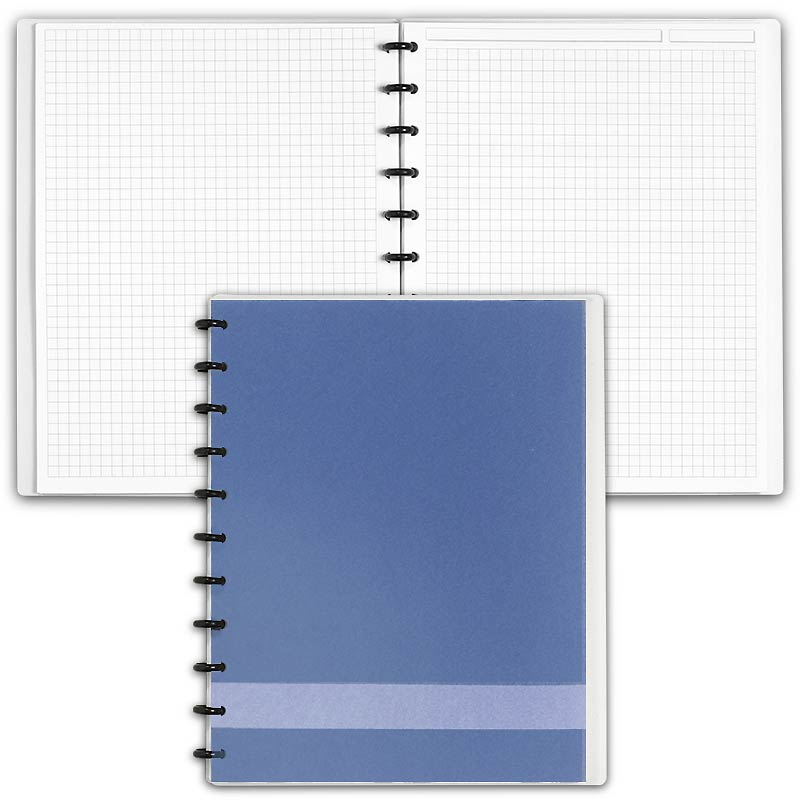Special Request™ Circa Personalized Notebook, Full-Page Grid, Slate, Letter
