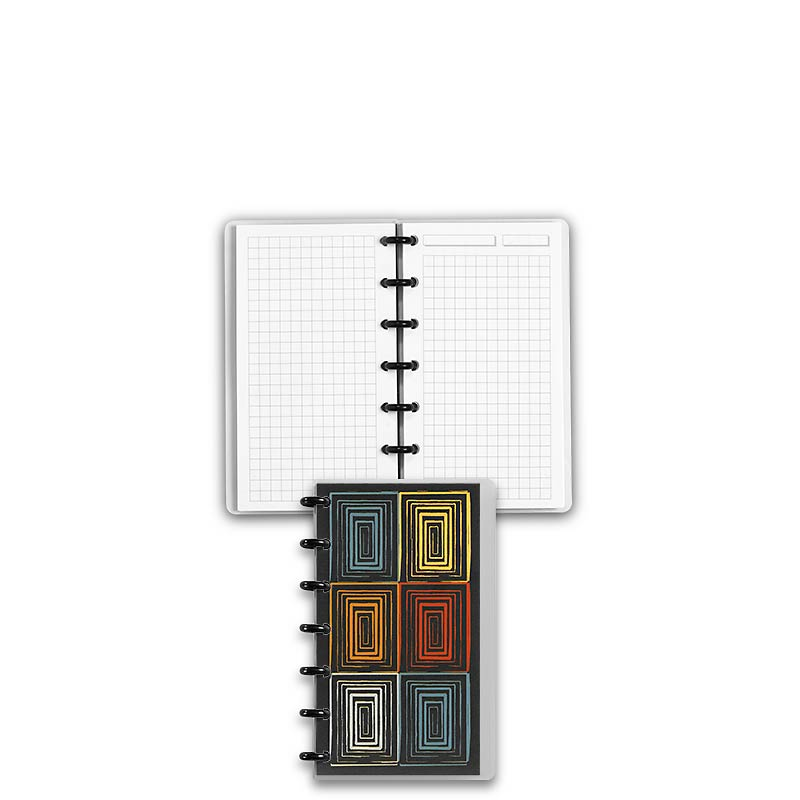 Special Request™ Circa Personalized Notebook, Full-Page Grid, Window, Compa