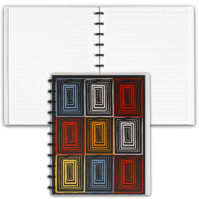 Special Request™ Circa Personalized Notebook, Full-Page Grid, Window, Lette