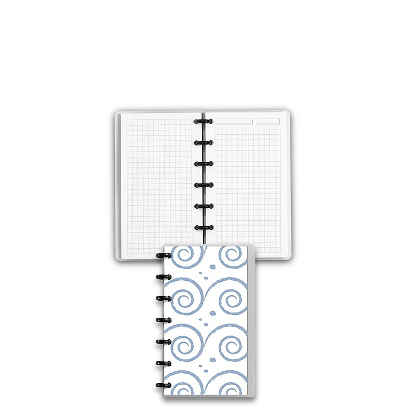Special Request™ Circa Personalized Notebook, Full-Page Grid, Waves, Compac