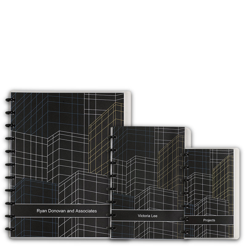 Special Request™ Circa Personalized Notebook, Full-Page Grid, Skyline