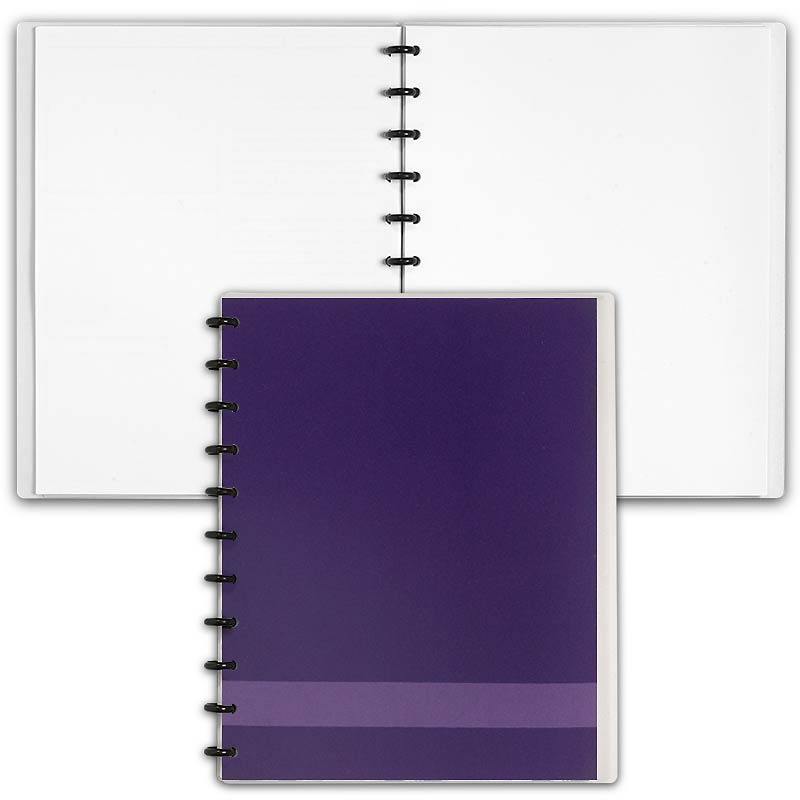 Special Request™ Circa Personalized Notebook, Blank, Grape, Letter