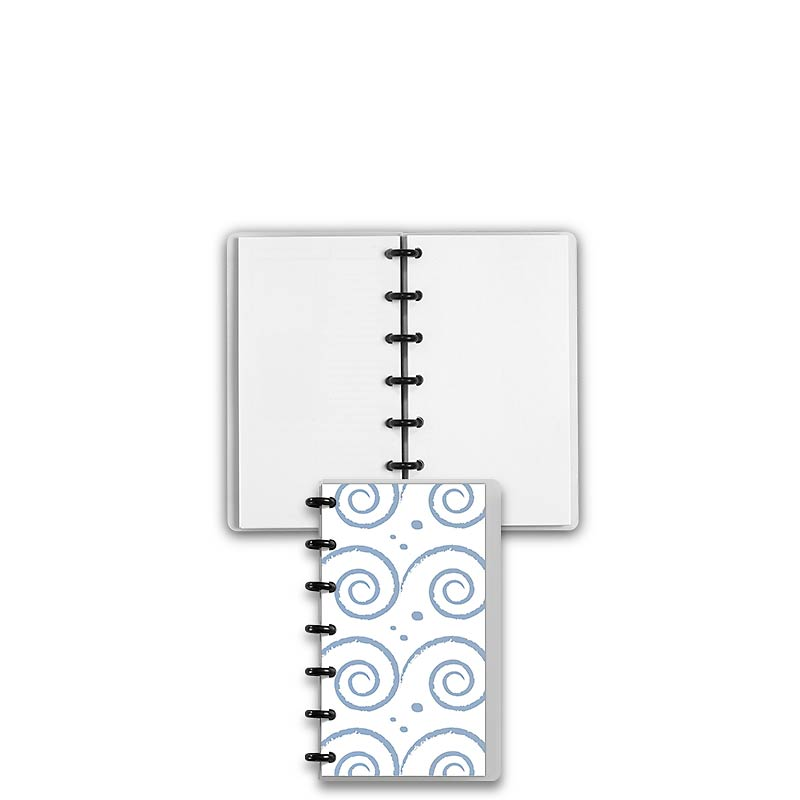 Special Request™ Circa Personalized Notebook, Blank, Waves, Compact
