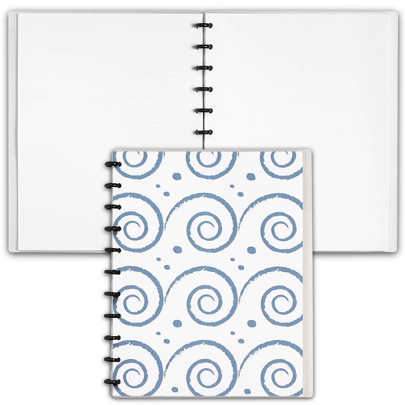 Special Request™ Circa Personalized Notebook, Blank, Waves, Letter