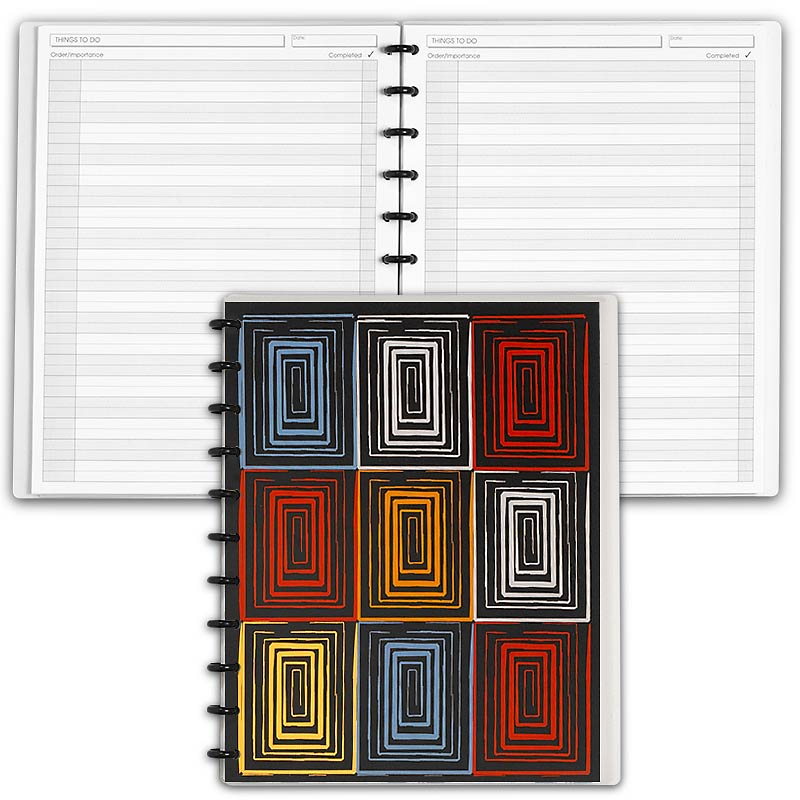 Special Request™ Circa Personalized Notebook, Things To Do, Window, Letter