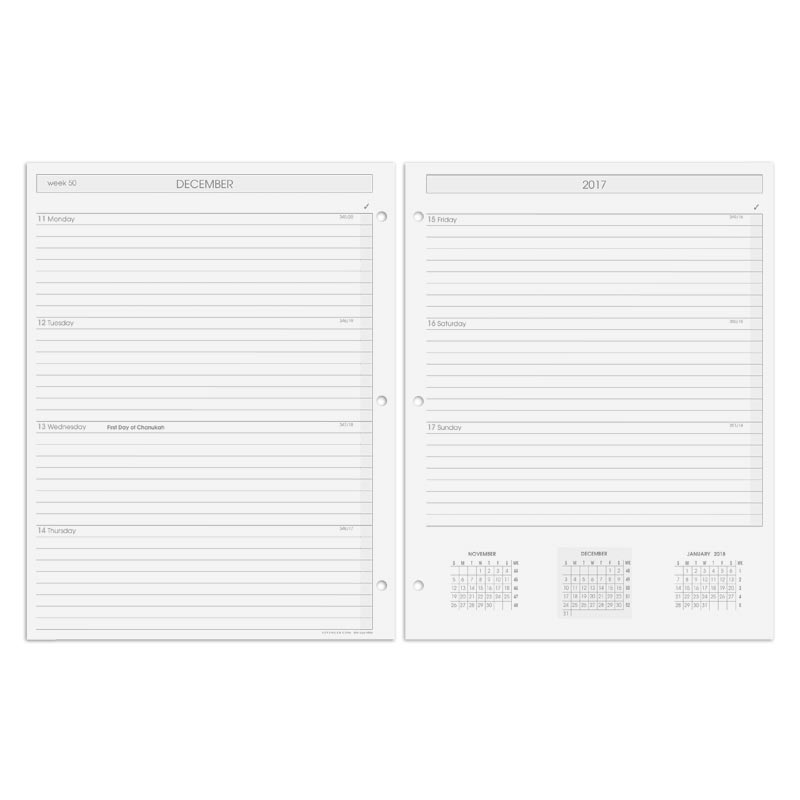 Special Request™ 3-Ring Weekly Planner Refill