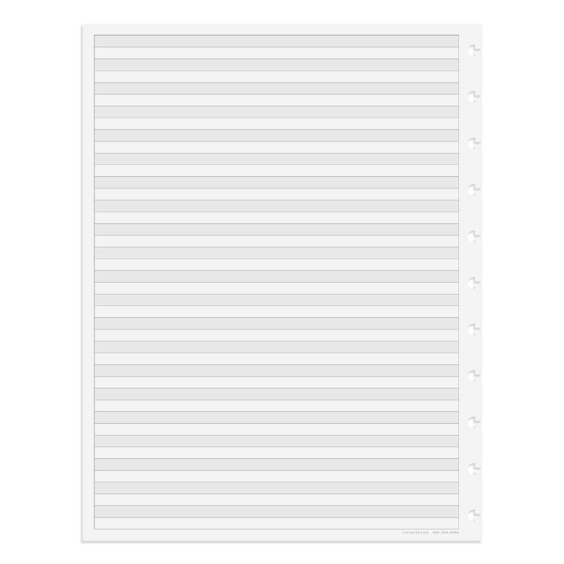 Circa TASK Refill Sheets, Dual Rule Letter