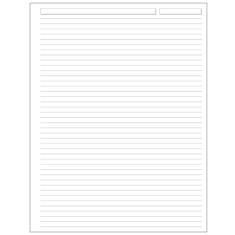 Special Request™ Full-Page Ruled (100 sheets), Unpunched, Letter