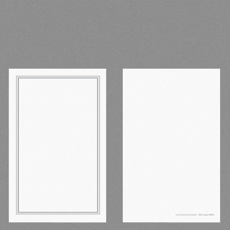 Special Request™ 3 x 5 Cards, Double Border